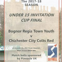 Bognor Regis Town Youth Vs Chichester City Colts Red.19/04/2018 Part One