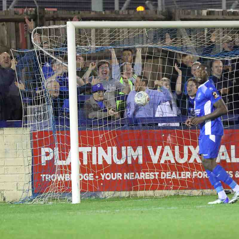 Chippenham Town V Hendon FC FA Cup Match Pictures 10th October 2018
