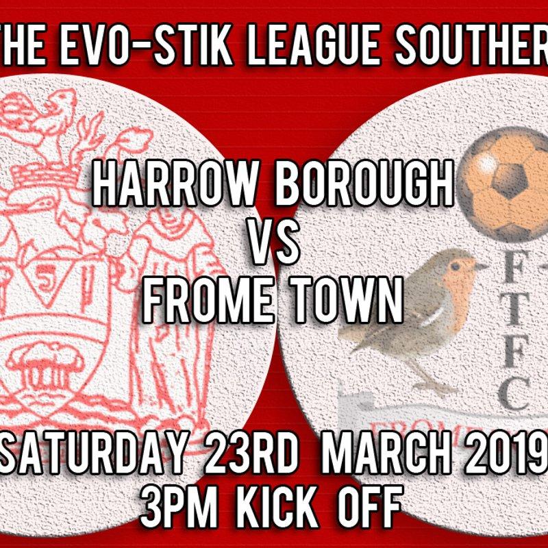 Harrow Borough 1      Frome Town  2