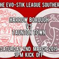 HARROW BOROUGH 1  TAUNTON TOWN  0