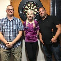 Fallon Sherrock darts exhibition