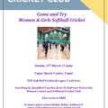 Come & Try - Women and Girls softball cricket