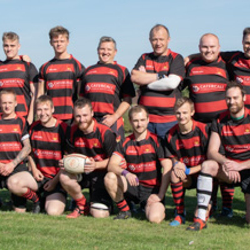 Chris Howell kicks a conversion for Alcester Rugby Football Club