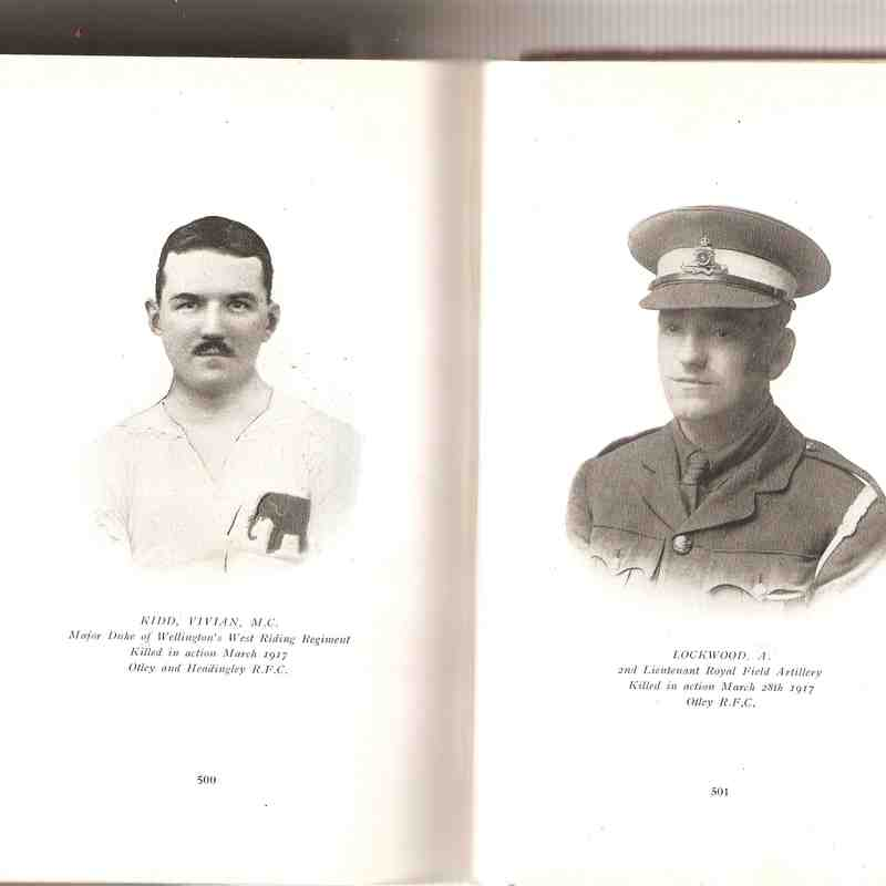 Lest we forget - in memory of those who fell during the Great War