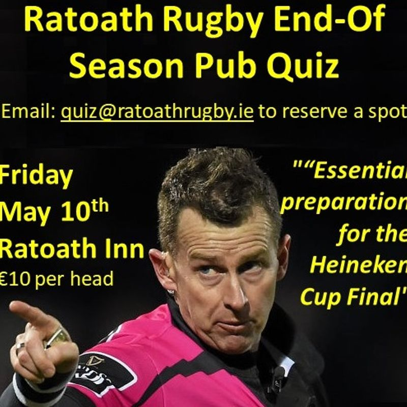 Pub Quiz Event Postponed