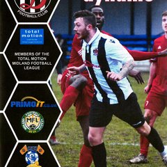 Programme Cover Sporting Khalsa F.C. and Chairman's Notes Plus Team Sheet 9.2.2019