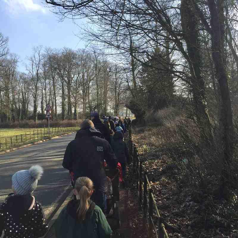 South Leicester u11s 2017/18 - Sponsored walk