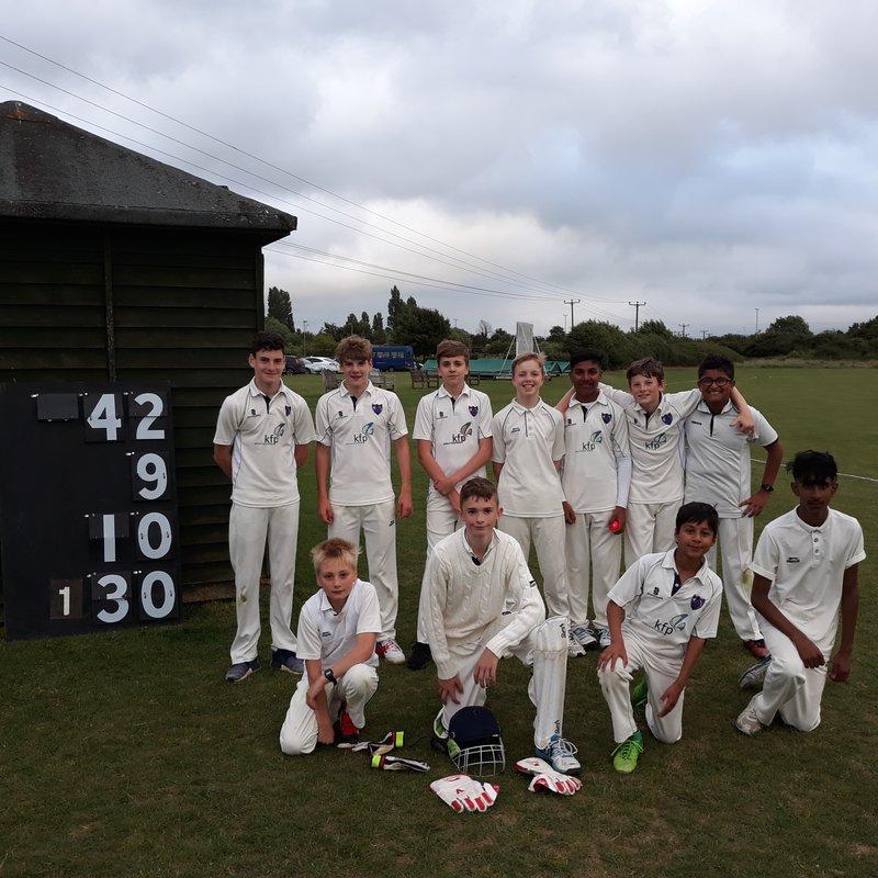 Cumnor CC - Under 15 120/3 - 119/7 Kidlington CC - Under 15