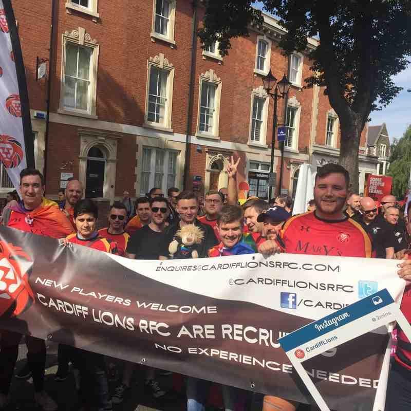 Cardiff Lions RFC do Pride Cymru 2017