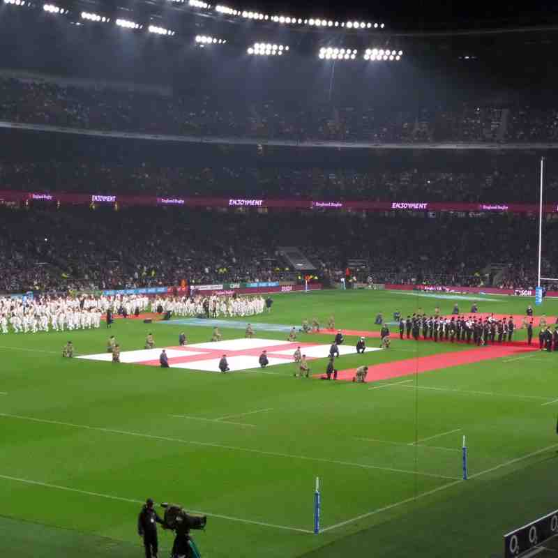 Under 11's Children and Parents day out to The Mighty England Vs Samoa a massive 42 of us