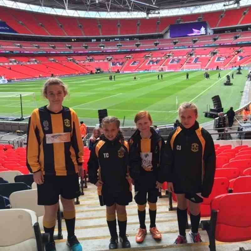 Tornadoes Girls go to Wembley to watch the SSE Womens FA Cup Final