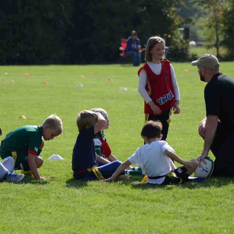 Under 8's First training session of the season