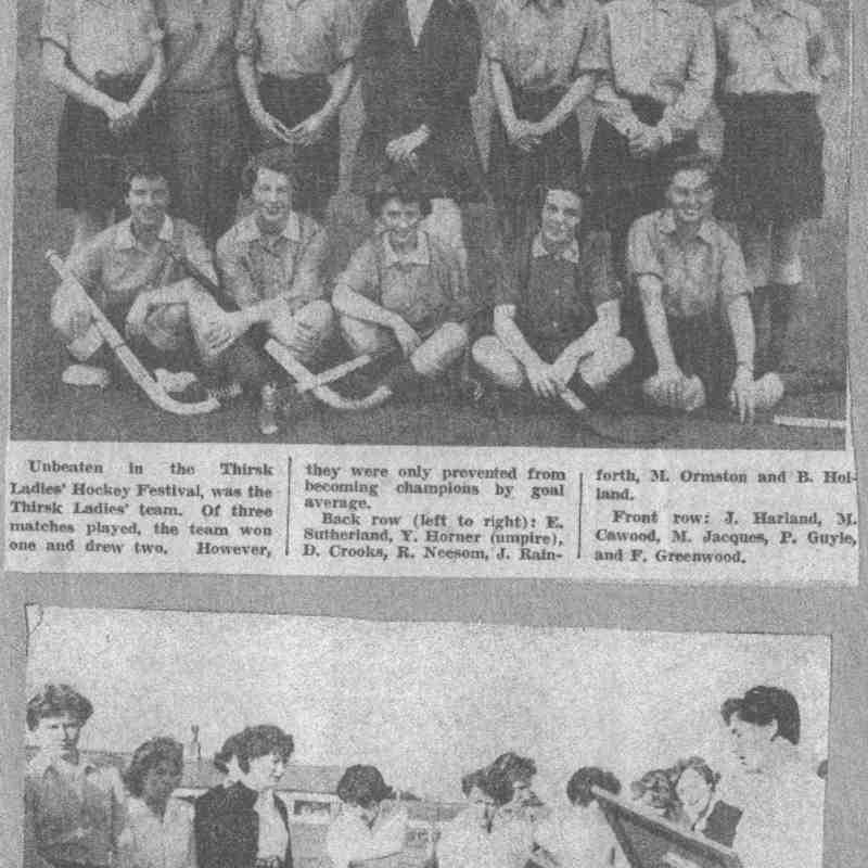 Newspaper Report circa 1957