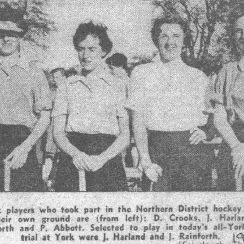 1957 Northern District hockey trials.