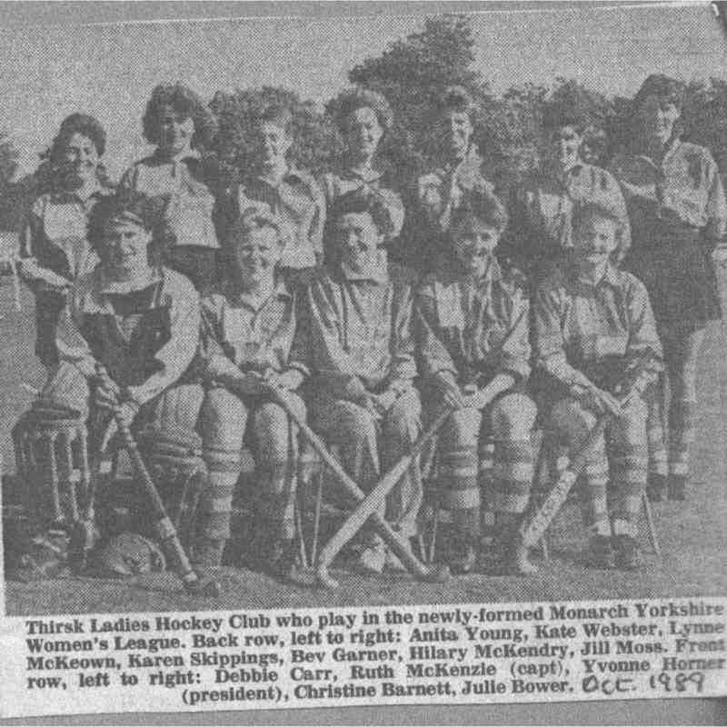 Ladies hockey team from October 1989