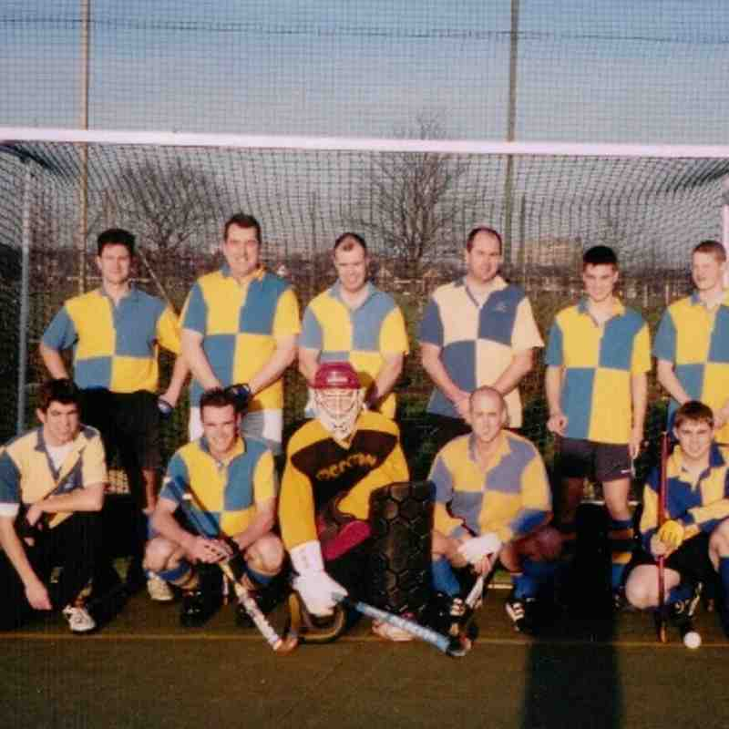 A TEAM FROM 1996. Standing l to r: Mike Rushmere, Jonathan Statham, ?, Dave Wilson, Mike Surtees, ?, Pete Harding, Steve Davison. Kneeling l to r: Ed Rushmere, ?, ?, Matt Elwood (picture supplier), ?.