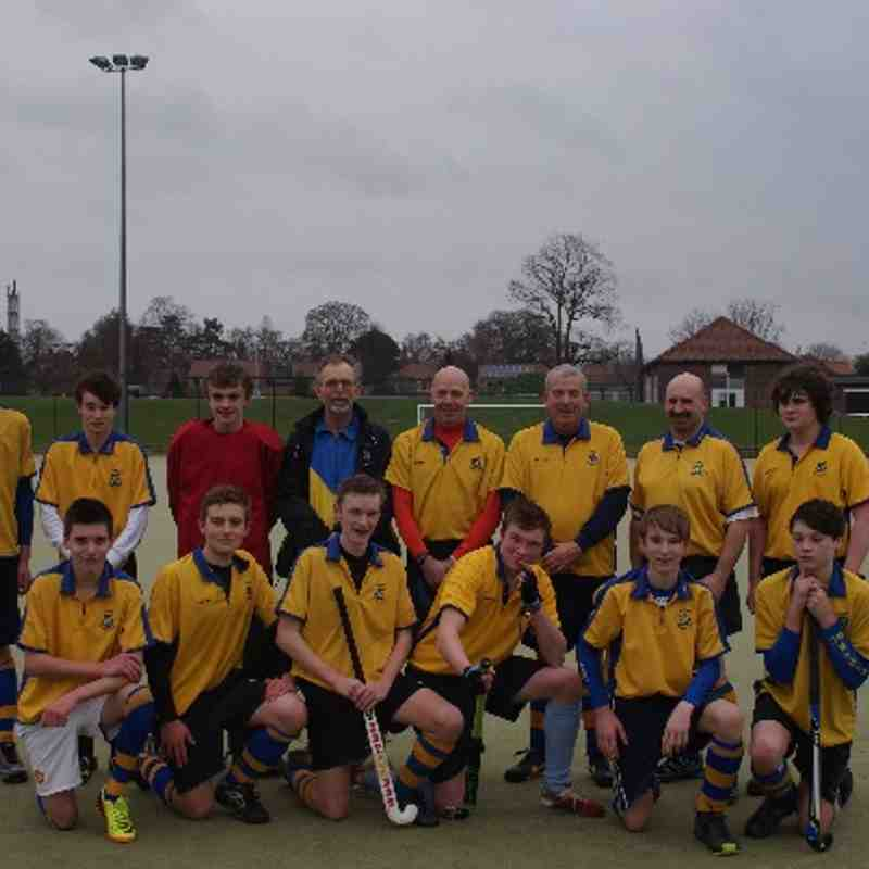 Second Team 2013-14. Standing: L to R  Joseph Shannon, Conor Barley , Will Grainger, Mike Rushmere, Ken Shannon, Andrew Young, Chris Harter, Andrew McCann Front: Jake Bowers, Nick Edwards, Jack Holland, Charlie Whitfield, Harry Collinson, Liam Shannon.