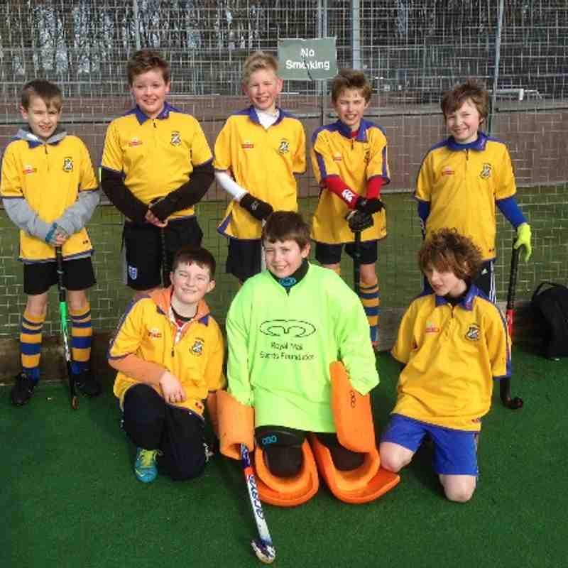 U12 Boys B Team. Back row: Oliver, James(Capt), Edward, Henry, Jack