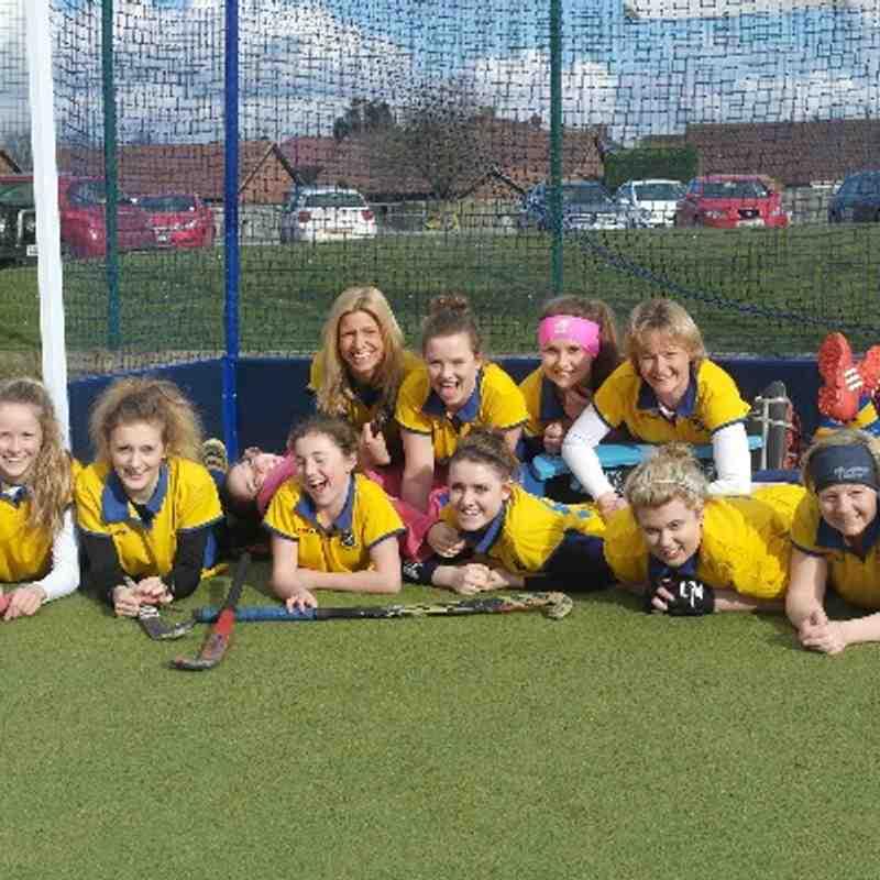 Ladies second team, division 5 champions, March 2014.