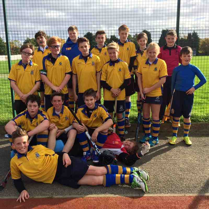 U14 Boys A team Oct 2014. L to R:
