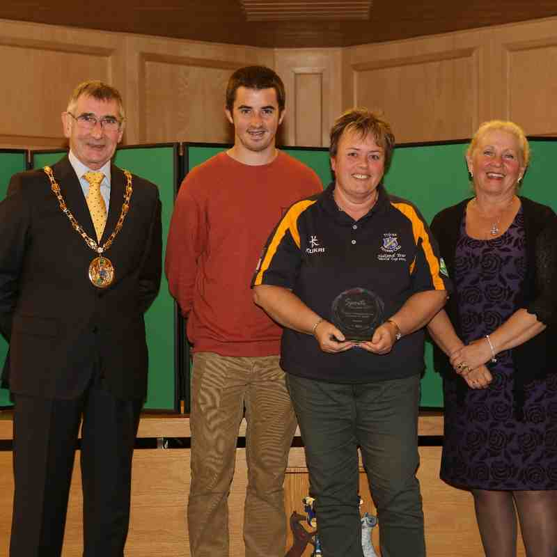 North Yorkshire Sport Awards 2014, Bev Longthorne, Service to Sport. With Councillor Mark Robson, Mrs Robson and Danny Hart, 2011 Downhill Mountain Bike World Champion.