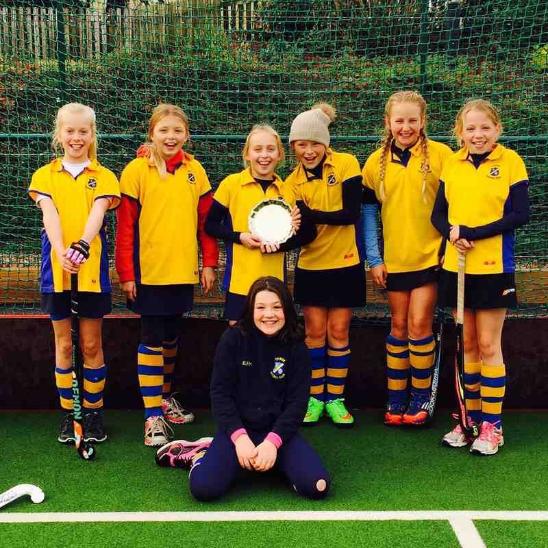 U10 girls. Left to Right Standing:  Hattie Councell, Dora Garlick, Amelia Pollock, Holly Pears, Yasmin Marshall, Daisy Grainge.  Sitting:  Evie Haigh (GK).
