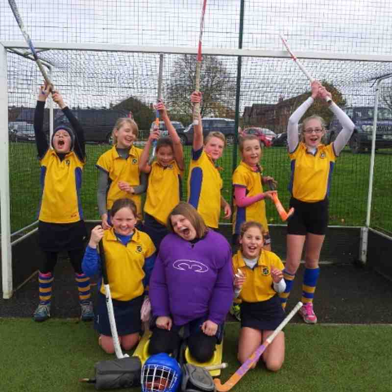 U12 A team girls, celebrating being mini championship runners up Nov 2014.