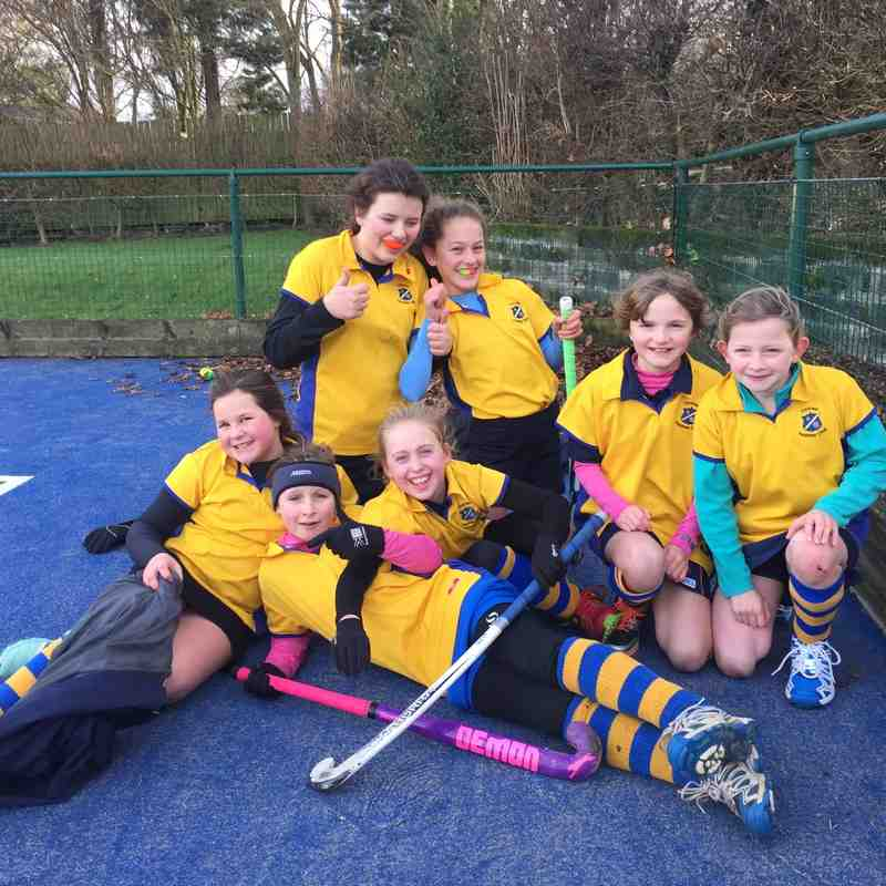 U12 C team Jan 2015. Back L to R:  Eve Robert & Helena De Costa