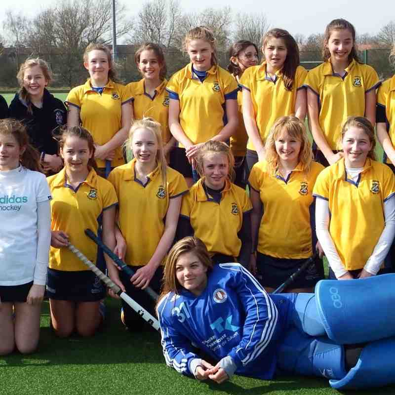 U14 Girls A & B squads, March 2015.