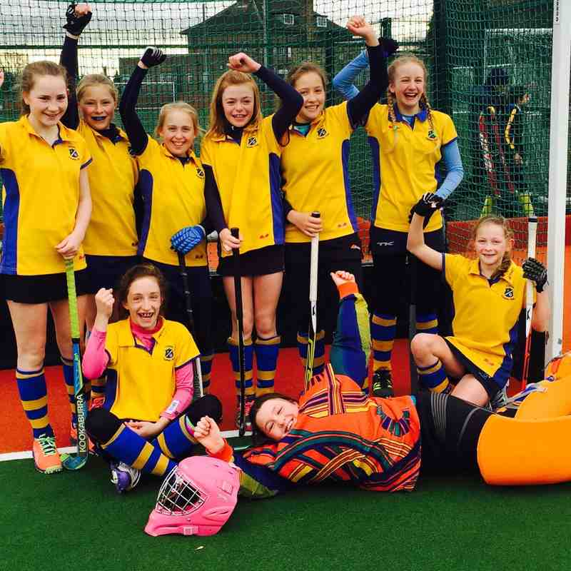 U12 Girls A team 2015/16.