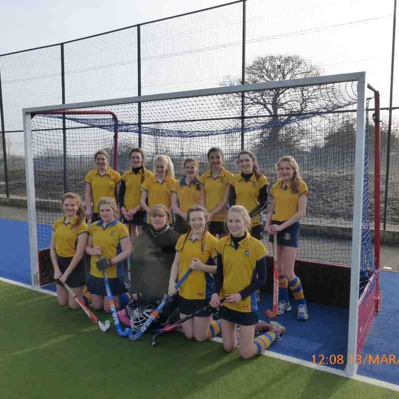 U16 Girls B team March 2016.