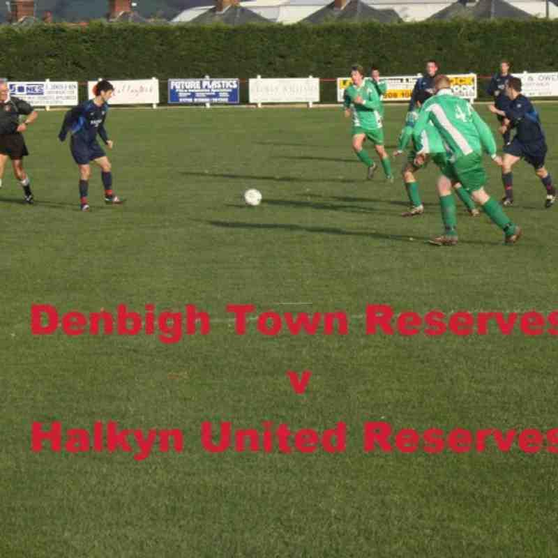 Denbigh Town Reserves v Halkyn United Reserves