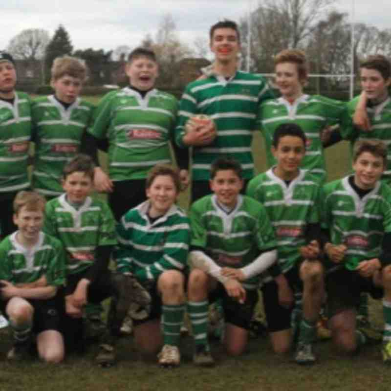 Under 13 Plate win 2014