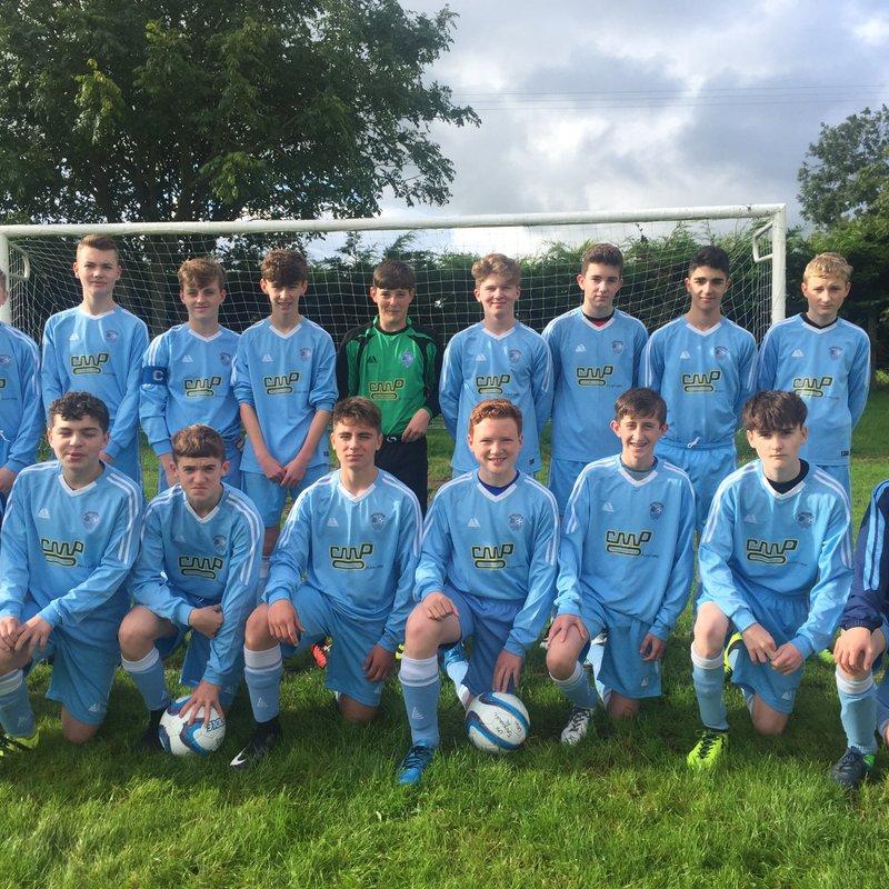 Under 16's beat Holyhead Hotspur B 3 - 1