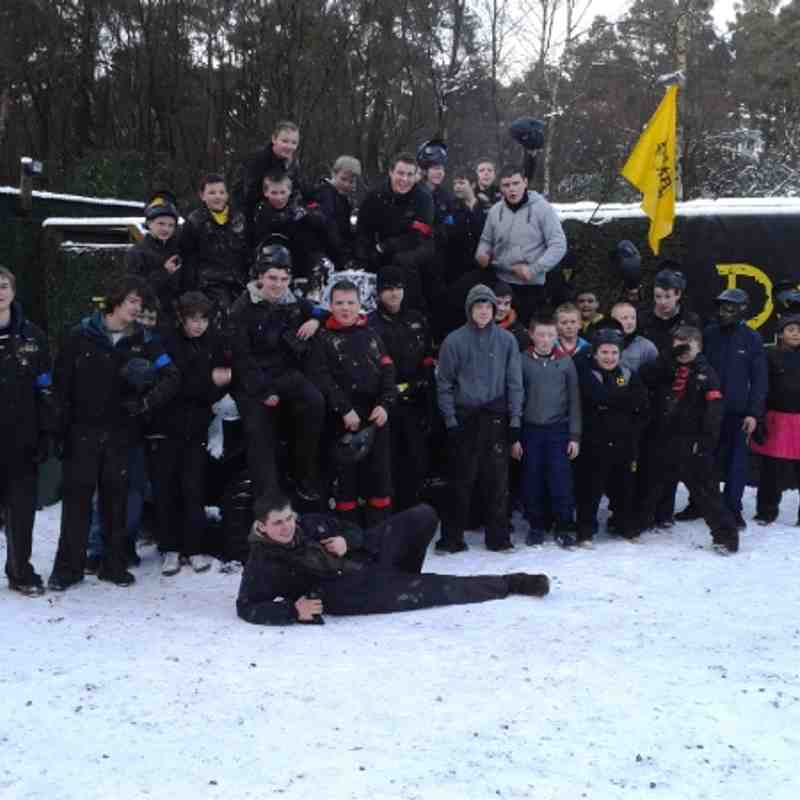 S1 to U16 Paintballing Xmas 2011