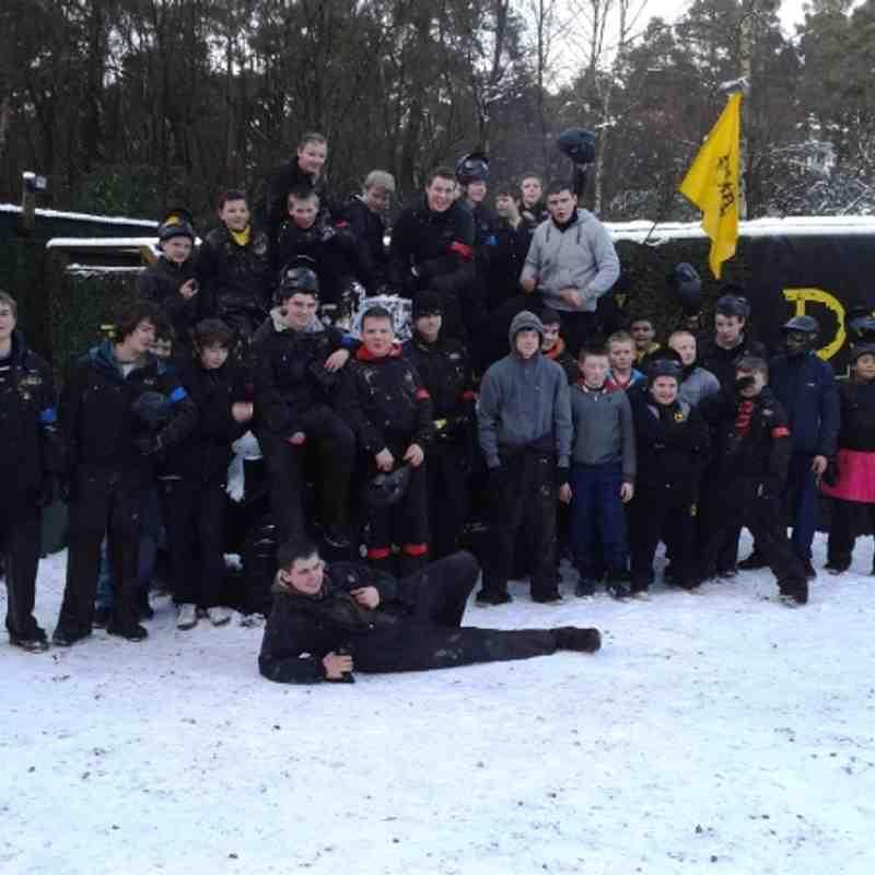 S1 to U16 Paintballing Xmas 2011
