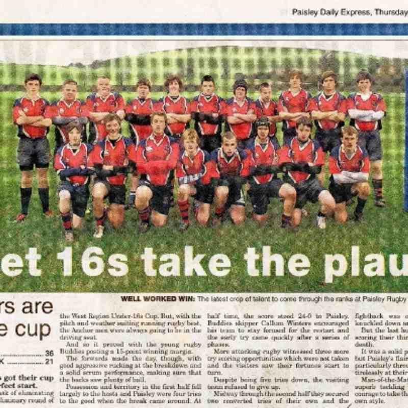 U16 Paisley Daily Express - 23.02.12