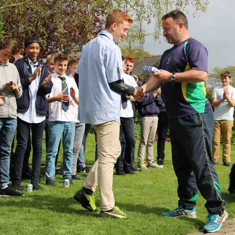 U13's Presentations & fond farewells