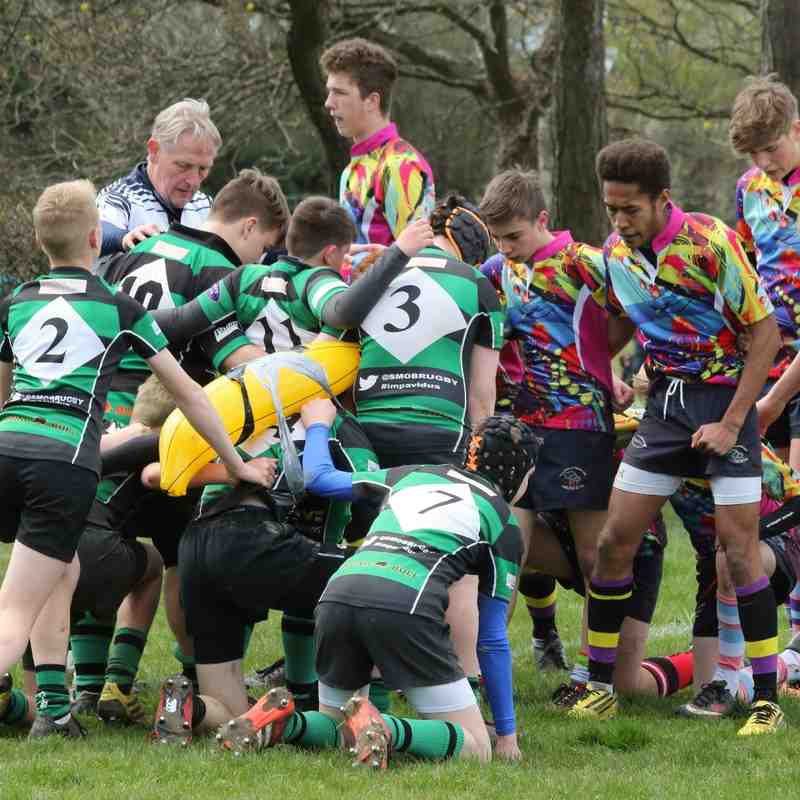 U14's enjoy a friendly encouter with Old St Mary's Touring Squad