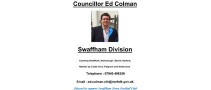 Councillor Ed Colman - Swaffham Division