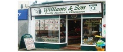 Williams & Son Butchers.