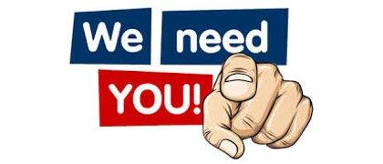 We need you..