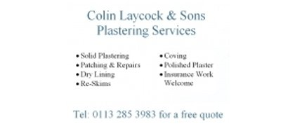 Colin Laycock & Sons Plastering Services