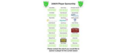 2018/2019 Player Sponsorship