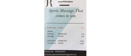 Jason Richardson Sports Massage