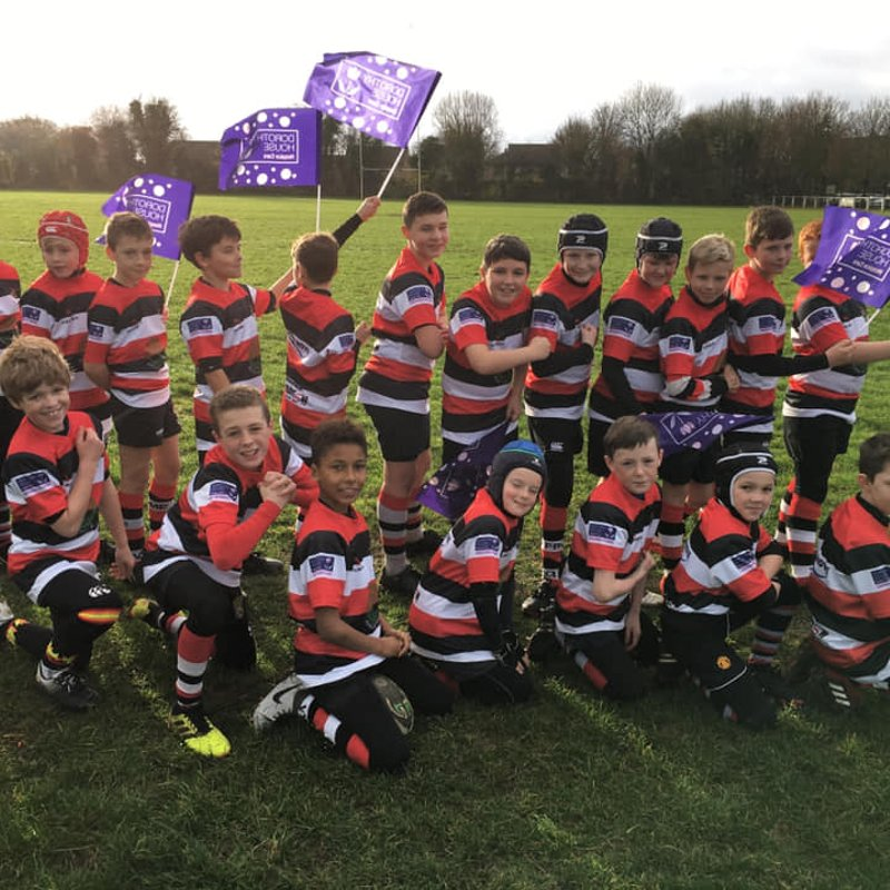 Frome RFC U11's team up with Dorothy House Hospice Care