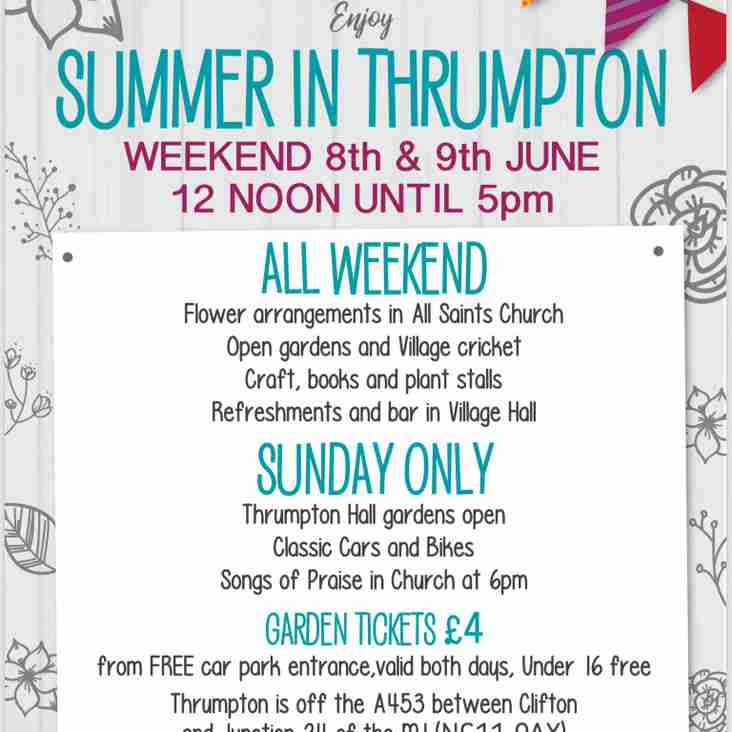 Summer In Thrumpton - 8th & 9th June
