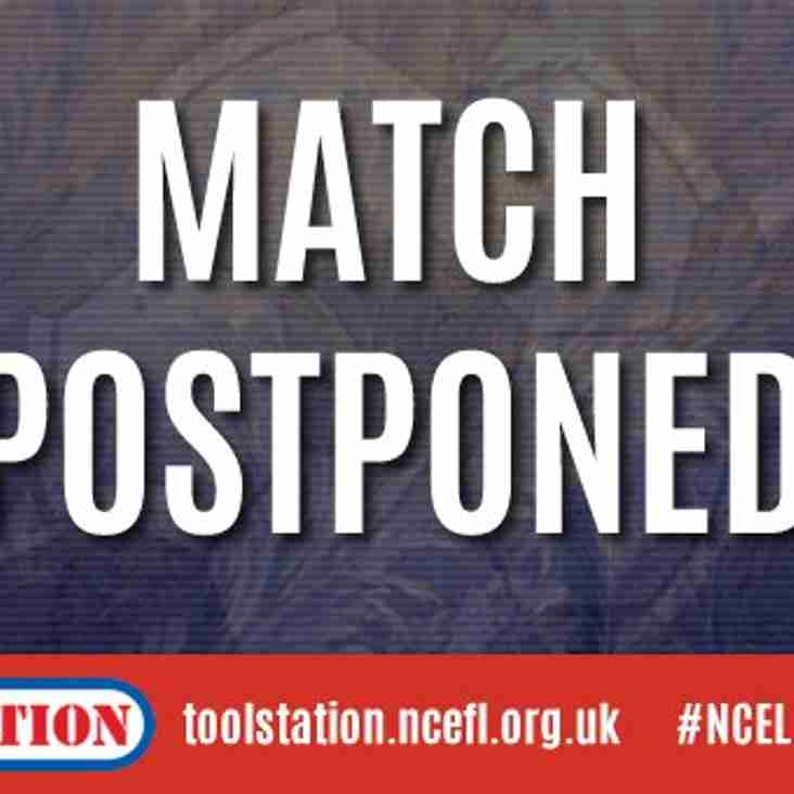 HARROGATE RAILWAY v WORKSOP TOWN POSTPONED
