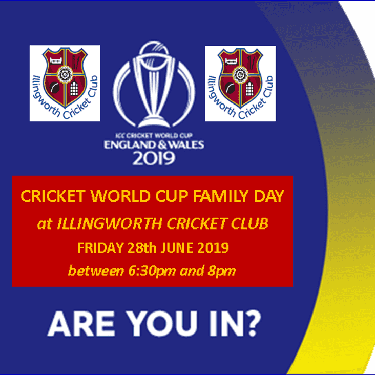 YOUR CRICKET WORLD CUP INVITATION