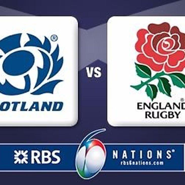 Scotland vs England on the big screen on Saturday evening<
